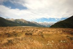 Waimakariri valley Royalty Free Stock Photo