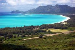 Waimanalo海湾,奥阿胡岛,夏威夷 免版税库存照片