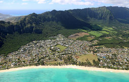 Waimanalo海滩 库存图片