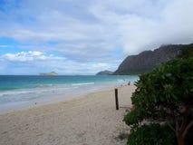 Waimanalo海滩 免版税库存照片