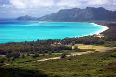 Waimanalo Bay, Oahu, Hawaii Royalty Free Stock Photo