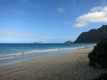 Waimanalo Beach during the day Royalty Free Stock Images