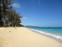 Waimanalo Beach looking towards Mokulua islands Stock Image