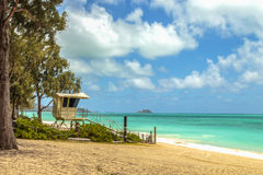Waimanalo Lifeguard Stand Stock Photography