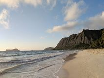 Waimanalo Plaża fotografia stock