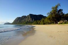 Waimanalo strand Arkivfoto
