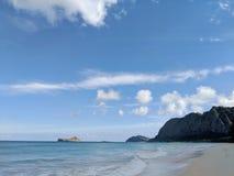 Waimanalo strand Royaltyfri Foto