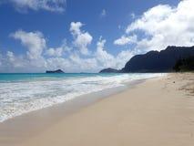 Waimanalo strand Fotografering för Bildbyråer