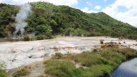 Waimangu Volcanic Valley stock video footage