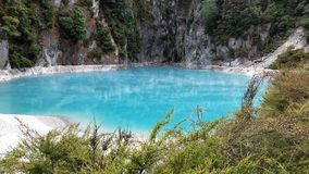 Waimangu volcanic valley thermal blue lake Royalty Free Stock Photography