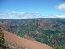 Waimea峡谷在考艾岛 免版税图库摄影