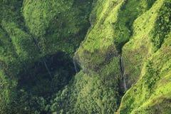 Waimea峡谷瀑布,考艾岛 库存图片