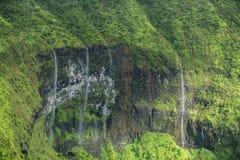 Waimea峡谷瀑布,考艾岛 库存照片