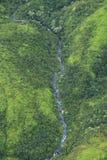 Waimea峡谷瀑布,考艾岛 免版税库存照片