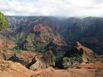 Waimea峡谷视图,考艾岛,夏威夷 免版税库存照片