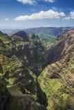 Waimea峡谷,考艾岛,夏威夷鸟瞰图  图库摄影