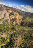 Waimea峡谷,考艾岛-彩虹 库存照片