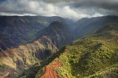 Waimea峡谷,考艾岛 库存图片