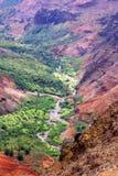 Waimea峡谷-考艾岛,夏威夷 图库摄影