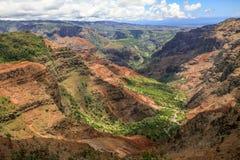 waimea Гавайских островов kauai каньона стоковое изображение
