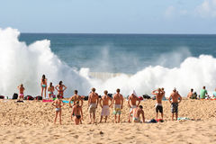 Waimea bay explosion Royalty Free Stock Image