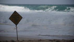 Waimea Bay in Haleiwa, Oahu, Hawaii with Large Surf stock video footage