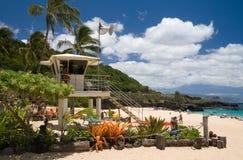 Waimea Beach Lifeguard Tower stock image