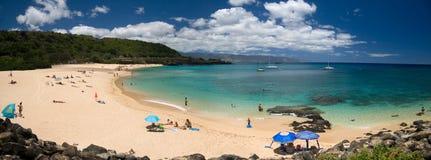 Waimea Beach Panorama stock photography