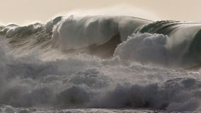 Waimea brzeg burzy podpalana masywna północna kipiel obraz royalty free