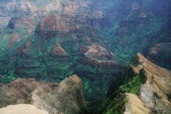 Waimea Canyon. On the island of Kauai, Hawaii Stock Image