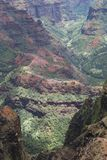 Waimea Canyon. The view of colourful and rich with light Waimea Canyon on Kauai island, Hawaii stock images