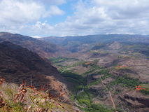Waimea canyon. View of waimea canyon in kaui hawaii Royalty Free Stock Photos