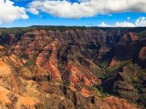 Waimea Canyon. Rugged landscape in Waimea Canyon, Kauai Stock Photos