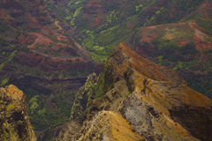 Waimea Canyon. Grand Canyon of the Pacific. On the island of Kauai in Hawaii Stock Images