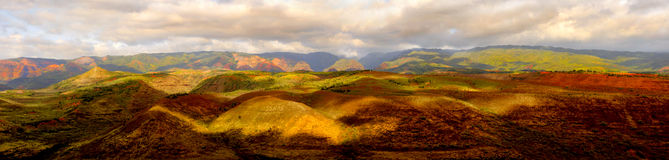 Waimea canyon. Beautiful panoramic image of Waimea canyon, Kauai Royalty Free Stock Photo