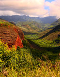 Waimea Canyon. Beautiful Vertical Image of Waimea canyon,kauai Royalty Free Stock Photography