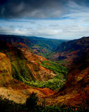 Waimea Canyon. Beautiful Verticle image of the lush Waimea Canyon, Kauai Royalty Free Stock Photos