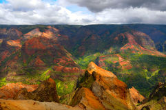 Waimea Canyon. On the island of Kauai, Hawaii Royalty Free Stock Images