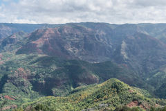 Waimea Canyon. On a cloudy day, on Kauai Stock Image