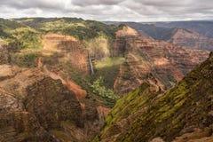 Waimea Canyon on the garden island of Kauai royalty free stock photography
