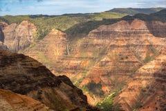 Waimea Canyon on the garden island of Kauai stock photography
