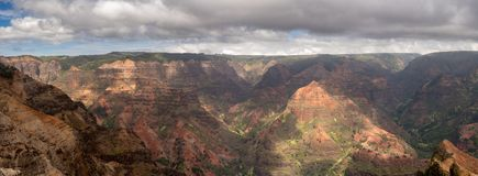 Waimea Canyon on the garden island of Kauai royalty free stock images