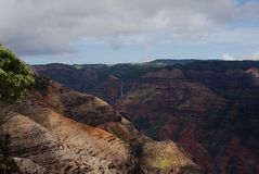 Waimea Canyon 2017 A. Waimea Canyon, the Grand Canyon of the Pacific, on the island of Kauai Royalty Free Stock Photo