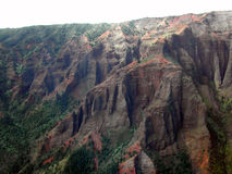 Waimea Canyon by Helicopter. Kauai's Waimea canyon by Helicopter Royalty Free Stock Image