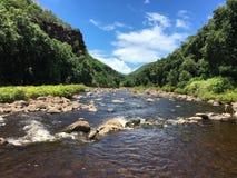 Waimea Canyon In Summer On Kauai Island In Hawaii. Royalty Free Stock Photo