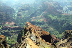 Waimea Canyon, Island of Kauai, Hawaii. A scenic view of Waimea Canyon photographed from one of the lookouts, on Kauai Island, Hawaii. Photo taken May 23, 2012 Stock Photo