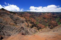 Waimea Canyon on Kauai. A scenic view of Waimea Canyon on the island of Kauai Stock Photos