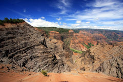Waimea Canyon on Kauai. A scenic view of Waimea Canyon on the island of Kauai Royalty Free Stock Photos