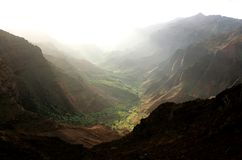 Waimea Canyon, Kauai. This image was shot at sunrise at Kauai's Waimea Canyon Stock Image