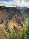 Waimea Canyon, Kauai. Waimea Canyon taken from open door Helicopter Royalty Free Stock Photo